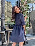 Вельветове плаття із завищеною талією 13-256, фото 9
