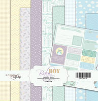 Набор бумаги для скрапбукинга Scrapmir Baby Boy, 20х20 см