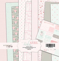 Набор бумаги для скрапбукинга Scrapmir Baby Girl, 20х20 см