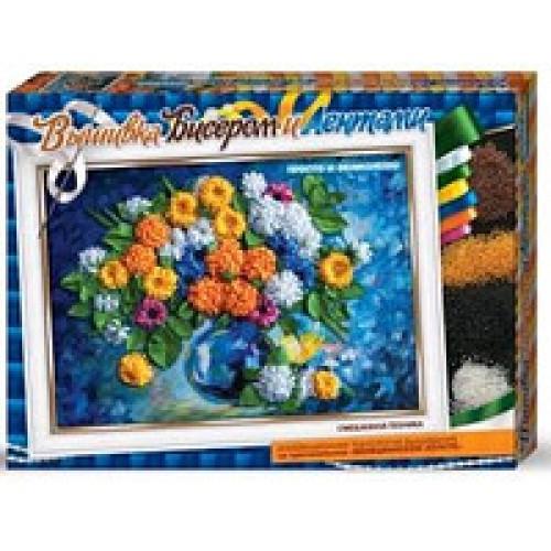 Вышивка бисером и лентами: БВ-01р-10 Полевые цветы Д / Т (1/10)
