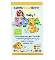 California Gold Nutritional, ДГК для дітей, Омега-3 з вітаміном D3, 59 ml