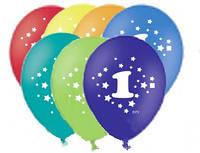 """Воздушные шары цифра """"1  """""""