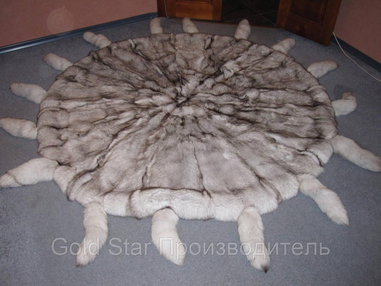 Покрывало из натурального меха песца
