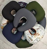 Ортопедические подушки для путешествий EKKOSEAT под шею и голову. Бинарные с велюровой вставкой. Ассорти 5. .