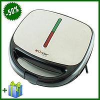 Бутербродница, вафельница, орешница, гриль контактный 4 в 1 800W Livstar LSU-1219 с антипригарным покрытием