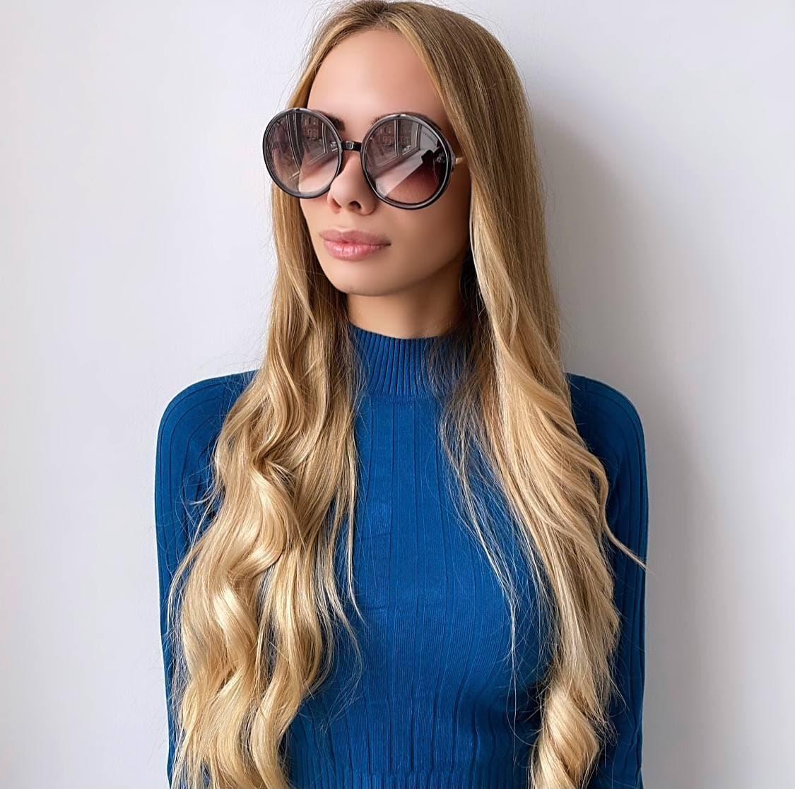 Жіночі круглі сонцезахисні окуляри
