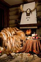 Покрывало из натурального меха лисы (шкуры)
