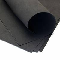 Фоамиран листовой чёрный, 50/50 см, толщина 1 мм