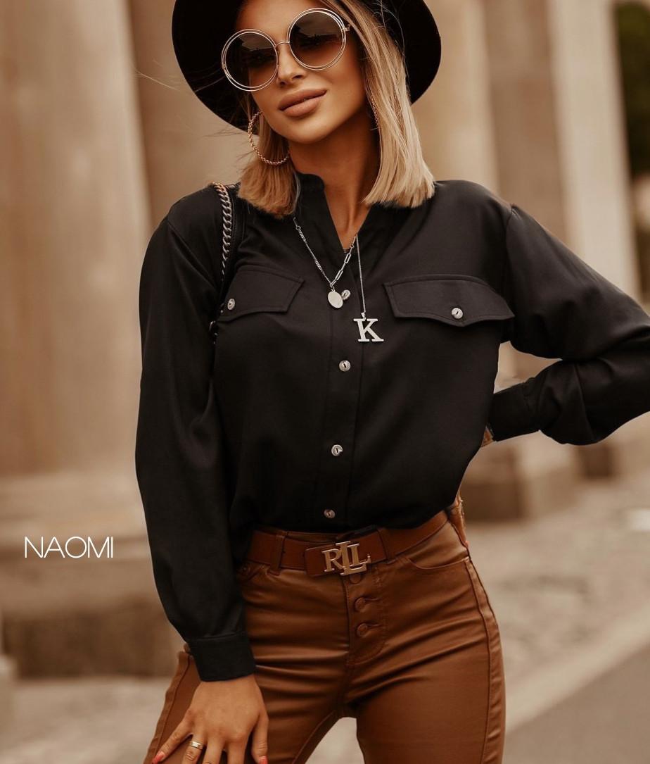 Блузка женская нарядная кофточка черная размеры  42 44 46 новинка 2021 есть цвета