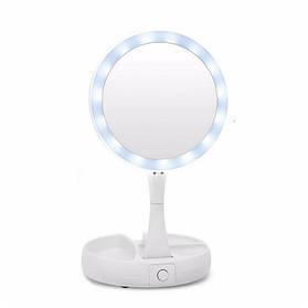 Зеркало для макияжа MHZ MyFoldAway R86662 с подсветкой Белый с прозрачным 007623, КОД: 1765969