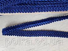 """Цветная тесьма """"косичка"""" синяя-електро ,ширина 1.2см(1уп-50метров)"""