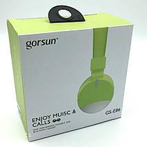 Бездротові навушники Gorsun GS-E86 - Bluetooth стерео навушники з MP3 плеєром і FM радіо (Салатові) Топ, фото 2