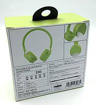 Бездротові навушники Gorsun GS-E86 - Bluetooth стерео навушники з MP3 плеєром і FM радіо (Салатові) Топ, фото 3