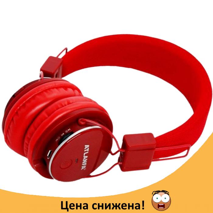 Бездротові Bluetooth-навушники Atlanfa AT-7611A c MP3 плеєром, FM радіо приймачем і мікрофоном Топ