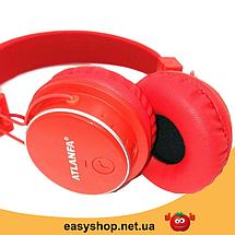 Бездротові Bluetooth-навушники Atlanfa AT-7611A c MP3 плеєром, FM радіо приймачем і мікрофоном Топ, фото 3
