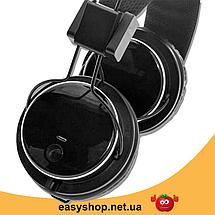 Беспроводные Bluetooth наушники Atlanfa AT-7611A c MP3 плеером, FM радио приемником и микрофоном, фото 3