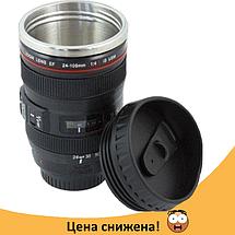 Чашка об'єктив CANON - Термо кружка у вигляді об'єктива, термочашка з підігрівом Топ, фото 2