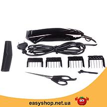 Машинка для стрижки волос GEMEI GM-813 с насадками - Профессиональная беспроводная машинка, триммер, бритва, фото 3