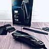 Машинка для стрижки волос GEMEI GM-813 с насадками - Профессиональная беспроводная машинка, триммер, бритва, фото 6