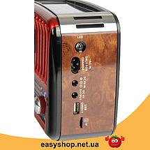 Радиоприемник GOLON RX-455S - портативный радиоприёмник с солнечной панель - колонка MP3 с USB и аккумулятором, фото 3