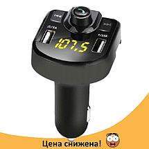 Трансмитер FM MOD M9 BT, MP3 модулятор, фм модулятор для авто, Трансмиттер с экраном, блютуз модулятор, фото 2