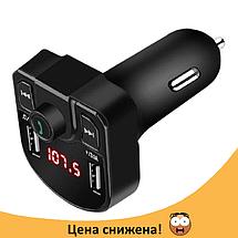 Трансмитер FM MOD M9 BT, MP3 модулятор, фм модулятор для авто, Трансмиттер с экраном, блютуз модулятор, фото 3
