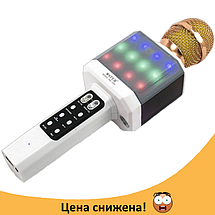Микрофон караоке WSTER WS-1828 - Беспроводной караоке микрофон с динамиком и cветомузыкой Белый, фото 2
