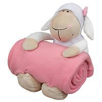 Плед с игрушкой Sheep Pink