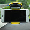 Тримач для телефону в машину Hoco CA5 - тримач для авто на торпеду з присоском Чорно-жовтий Топ, фото 5
