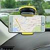Тримач для телефону в машину Hoco CA5 - тримач для авто на торпеду з присоском Чорно-жовтий Топ, фото 6