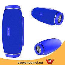 Портативная Bluetooth колонка Hopestar H27 - мощная акустическая стерео блютуз колонка Синяя, фото 2