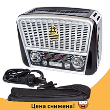 Радиоприемник GOLON RX-456S - портативный радиоприёмник с солнечной панель - колонка MP3 с USB и аккумулятором, фото 3