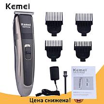 Машинка для стрижки волосся KEMEI PG-104 Бездротова з індикатором заряду Топ, фото 3