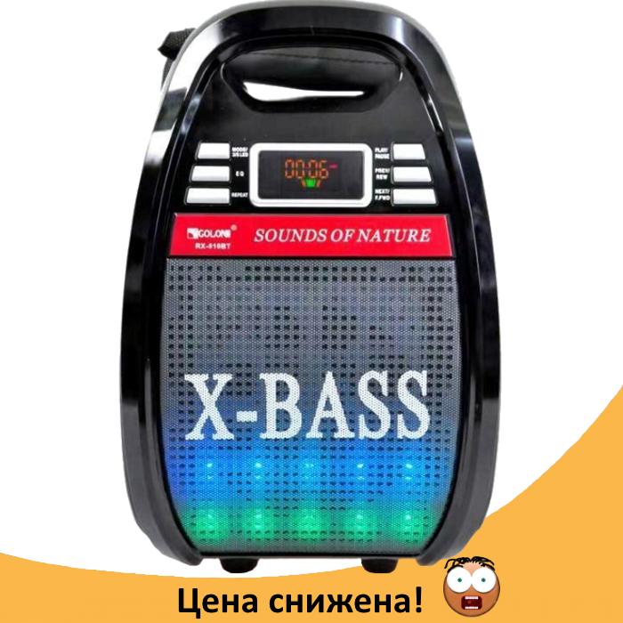 Колонка Golon RX 810 с микрофоном - портативная Bluetooth колонка с радио и светомузыкой
