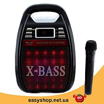 Колонка Golon RX 810 с микрофоном - портативная Bluetooth колонка с радио и светомузыкой, фото 3