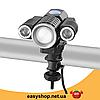 Ліхтар налобний Bailong Police W602-T6 - налобний ліхтарик на 3 діода (поворотні) + Кріплення для велосипеда, фото 5