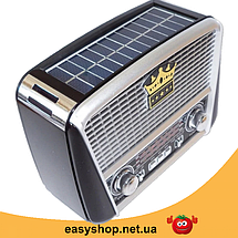 Радиоприемник GOLON RX-455S - портативный радиоприёмник с солнечной панель - колонка MP3 с USB и аккумулятором, фото 2