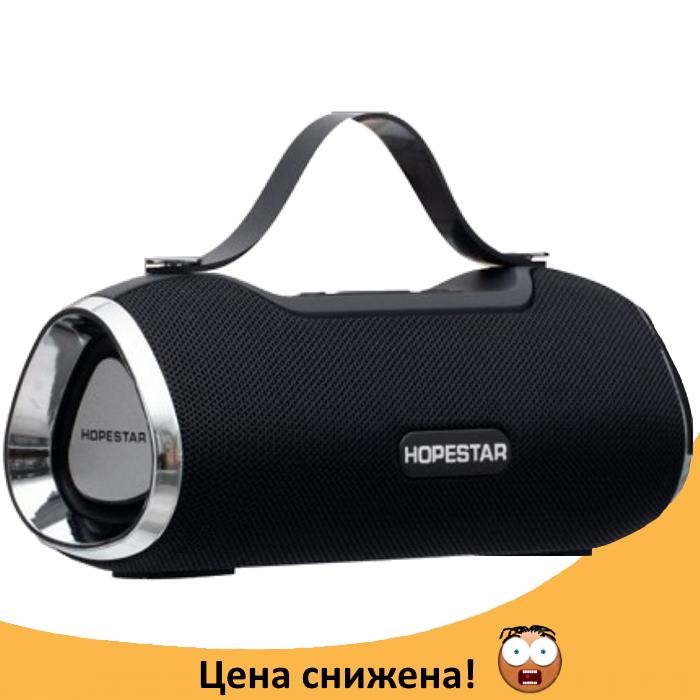 Портативна Bluetooth колонка Hopestar H40 - потужна акустична стерео блютуз колонка Чорна Топ