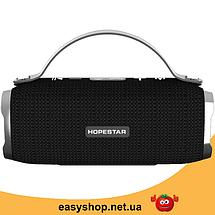 Портативна Bluetooth колонка Hopestar H40 - потужна акустична стерео блютуз колонка Чорна Топ, фото 2