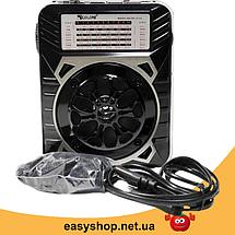 Радіоприймач Golon RX-9133 - радіоприймач від мережі з акумулятором і ліхтариком, портативна USB колонка Топ, фото 2