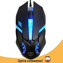 Ігрова мишка Zornwee GM02 c підсвічуванням 5 кольорів Чорна Топ, фото 3