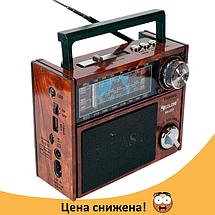 Радіоприймач GOLON RX-201 - портативний радіоприймач колонка MP3 з USB, акумулятором і Led-ліхтариком Топ, фото 2