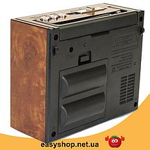 Радіоприймач GOLON RX-201 - портативний радіоприймач колонка MP3 з USB, акумулятором і Led-ліхтариком Топ, фото 3