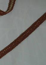 """Цветная тесьма """"шубная"""" кирпично-коричневая с белыми вкраплениями ,ширина 1.2см(1уп-50метров)"""