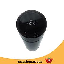 Термос з LCD дисплеєм з датчиком температури 500 ml (показує температуру рідини) Топ, фото 3