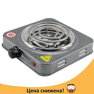 Електроплита DOMOTEC MS-5801 спіральна - настільна електрична плита 1 конфорка (1000 Вт) Топ