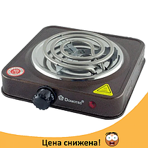 Электроплита DOMOTEC MS-5801 спиральная - настольная электрическая плита 1 конфорка (1000 Вт), фото 2