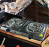 Електроплита DOMOTEC MS-5802 подвійна - настільна електрична плита на дві конфорки (2000 Вт) Топ, фото 5