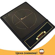 Электроплита DOMOTEC MS-5832 индукционная - настольная электрическая плита 2000 Вт сенсорная, фото 2