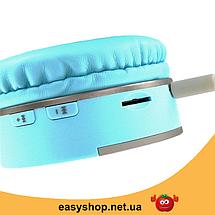 Беспроводные наушники Gorsun GS-E86 - Bluetooth стерео наушники с MP3 плеером и FM радио (Голубые), фото 3